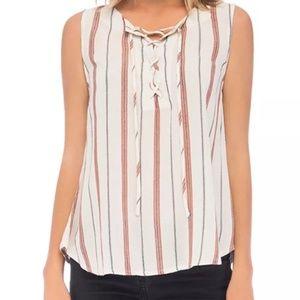 Bobeau Camille Sleeveless striped top